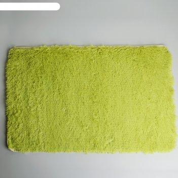 Коврик для ванной уют 50*80 см, фисташковый