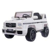 Электромобиль mercedes-benz g63 amg, eva колёса, кожаное сидение, цвет бел