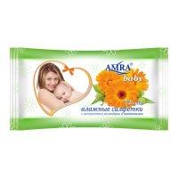 Салфетки влажные amra освежающие для детской гигиены, 72 шт