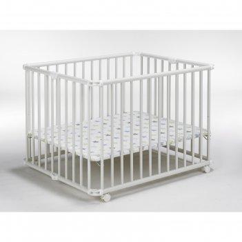 Детский манеж lucilee 90,2 x 97,4 см, белый 32