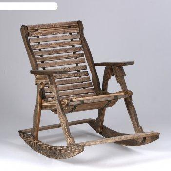 Кресло-качалка, гибкое, брашированное, хвоя, 110x70x105см