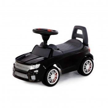 Каталка-автомобиль supercar №6 со звуковым сигналом, чёрный 84613