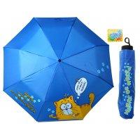 Зонт складной механический в чехле сухой котэ, d = 108 см