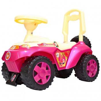 Ор198 каталка машинка ориоша с клаксоном розовый
