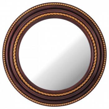 Зеркало настенное lovely home диаметр=52 см цвет: кофейный (кор=4шт.)