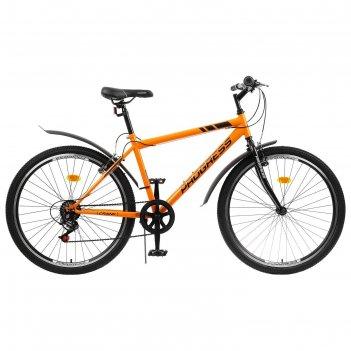 Велосипед 26 progress модель crank rus, цвет оранжевый, размер 17