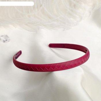 Ободок для волос матовый блик 1 см косичка, микс
