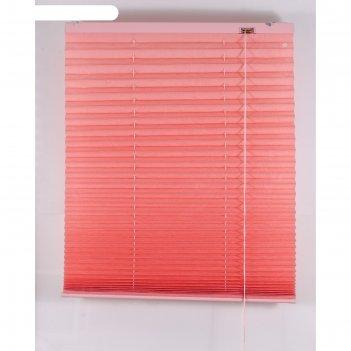 Штора-плиссе, размер 170х160 см, цвет розовый
