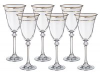 Набор бокалов для вина из 6 шт. александра 185 м...