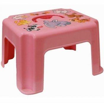 Табурет-подставка с ручкой 2290 розовый