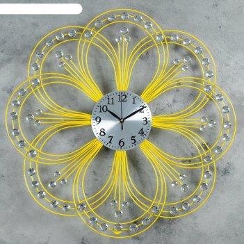 Часы настенные серия ажур цветок с кр латунь d=60см