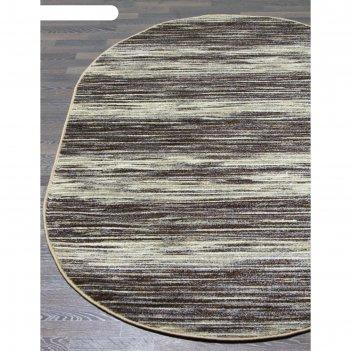 Овальный ковёр sunrise 2 d446, 300x400 см, цвет gray-beige