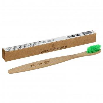 Зубная щетка для взрослых зеленая