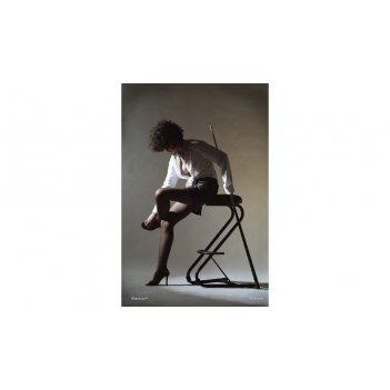 Постер snb01003 (500x700 мм) - девичьи игры на бильярде