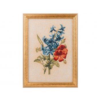 Гобеленовая картина «бутоньерка гиацинт» 25х19 см