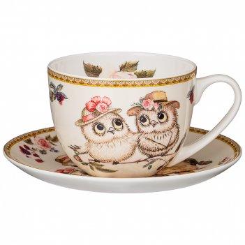 Чайная пара lefard owls party 300 мл