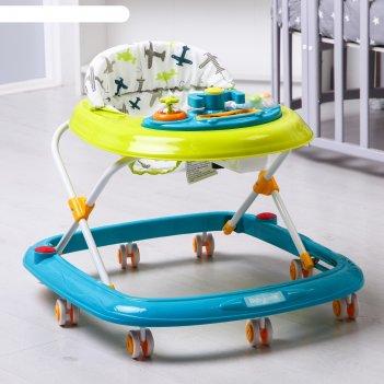 Ходунки детские baby care corsa, цвет зелёный