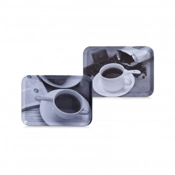 Поднос чашки кофе, 30,5х22см