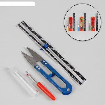Набор инструментов для шитья, в пакете, цвет микс