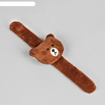 Игольница на браслете «мишка», 23 x 6,5 см, цвет коричневый