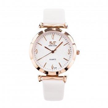 Часы наручные женские сит, циферблат d=3,6 см, бежевый микс