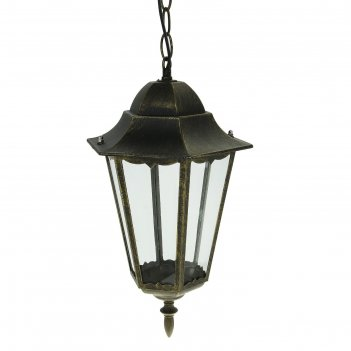 Светильник tdm 6100-15 садово-парковый шестигранник, 100вт, подвес, бронза