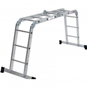 Лестница-трансформер олимп 2320403a, 4-х секционная, 4х3 ступени