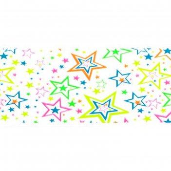 Слайдер-дизайн для ногтей звёзды, неоновый, цвета микс