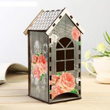 Чайный домик цветы 20х9,5х10 см