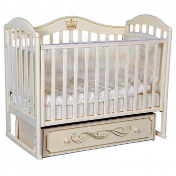 Кроватка «антел» anita-99, универсальный маятник, ящик, цвет слоновая кост