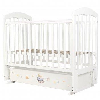Кровать детская «сильвия-7», 120х60 см, универсальный маятник, ящик, принт