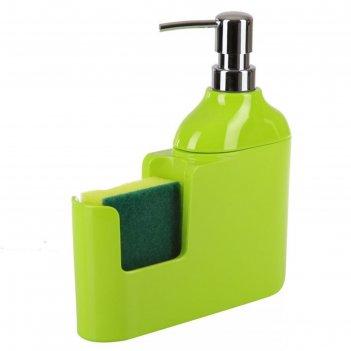 Дозатор для моющих жидкостей veroni, цвет зелёный