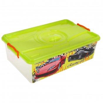 Ящик для игрушек формула-2 с крышкой, 30 л
