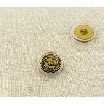 Пуговица металлическая, размер 19 мм