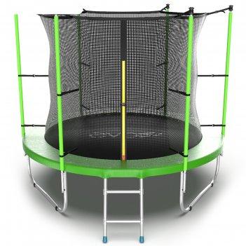 Батут evo jump internal 8 ft, d=244 см, с внутренней сеткой и лестницей, з