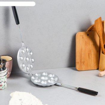 Форма для выпечки печенья орешница, литой алюминий