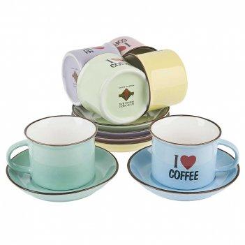 "Кофейный сервиз 12пр. ""i love coffee"" (6персон) v=175мл. (подаро"