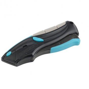 Нож, ремонтно-монтажный, трехкомпонентная рукоятка, авто выброс, возврат л