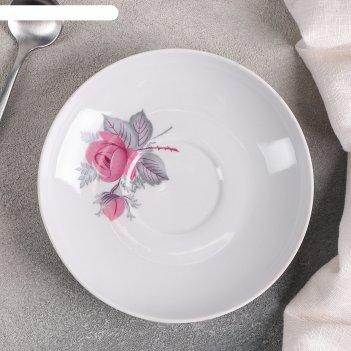 Блюдце чайное d=14 см дикая роза
