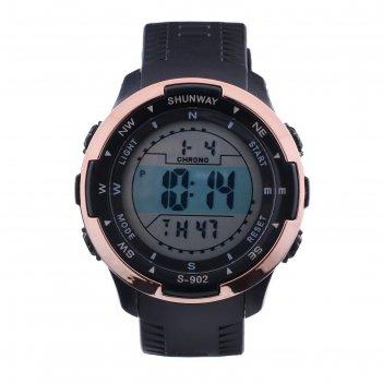 Часы наручные электронные shunway s-902, d=5 см, l=20 см, микс