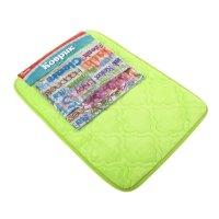 Набор вензеля коврик, штора для ванной eva (40*60, 183*183 см), зеленый