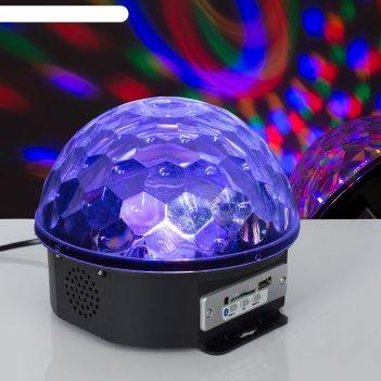 Световой прибор хрустальный шар, диаметр 17,5 см, с музыкой, беспроводной,