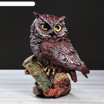 Статуэтка сова, 33 см, рисованная