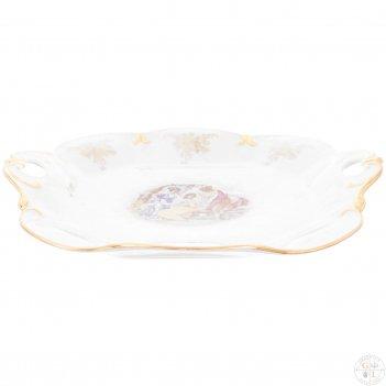 Блюдо фигурное квадратное queens crown мадонна перламутр 32 см