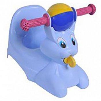 Горшок-игрушка зайчик голубого цвета 2710la-bl