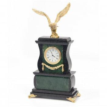Часы орел нефрит бронза