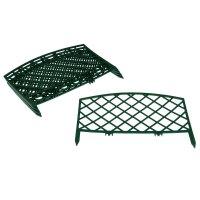 Декоративный забор 2,3 м решетка, цвет зеленый, комплект 5 секций