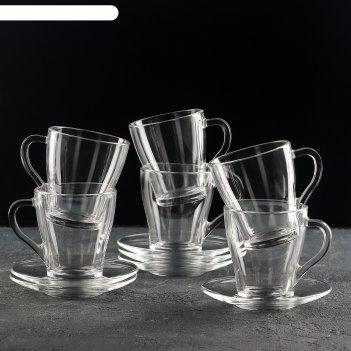Чайный набор 250 мл «грация», 12 предметов