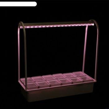 Светильник для растений светодиод. uniel «минисад», с подставкой, для фото