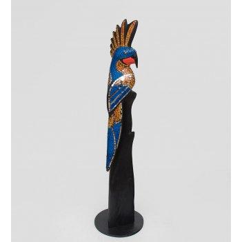 23-008 статуэтка какаду дерево+стекл.мозаика 80см